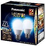 パナソニック LED電球 口金直径26mm プレミアX 電球40形相当 昼光色相当(4.4W) 一般電球 全方向タイプ 2個入り 密閉器具対応 LDA4DDGSZ42T
