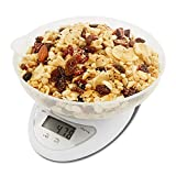 MOCEAN Digital Food Scale - Food Kitchen Scale 5kg x 1g Digital Cooking Weight Scale with Food Scale Bowl Multifunctional (No Battery Included)