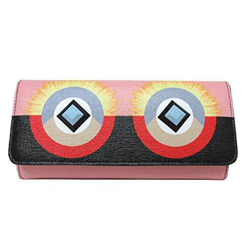 フェンディ FENDI 財布 8M0251-SQT-F02L0 型押しレザー プリント 二つ折り 長財布 ピンク系×マルチ【アウトレット】 [並行輸入品]