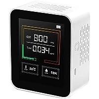 二酸化炭素濃度計 二酸化炭素計 co2メーターモニター 空気質検知器 センサー 空気品質 TVOC 高精度 多機能 濃度…