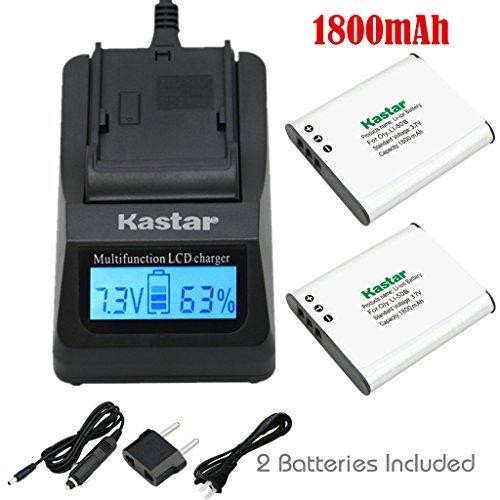 Kastar超高速充電器キット、バッテリ( 2- Pack ) for Pentax d-li92Olympus Li - 50b、Ricoh Pentax Optio I - 10rz10WG - 1GPS、、、rz18、WG - 1WG - 2、WG - 2GPS、WG - 3、WG - 3GPS、wg-4、wg-4、GPS、WG - 10x70