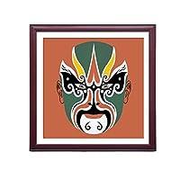 XUEPING 壁アートの絵画ソファの背景の壁のリビングルームの研究ベッドルームのレストランのバーレストランカフェの壁の装飾北京オペラ12米紙のペンダント (色 : D, サイズ さいず : W50cm×H50cm)