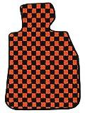 ZERO ゼロ フロアマット(脱臭・消臭加工済み) ベンツ CLSクラス 2005/2~2011/2 W219 左ハンドル用 チェック オレンジ/ブラック ヒールパッド付