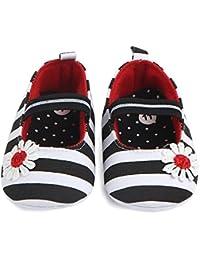 YukeBaby 新生児のかわいい靴 軽くて通気性の柔らかい底 幼児の綿の靴 カジュアルなウォーキングシューズ(0-18ヶ月用)