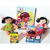Girls Dolls & Play Set includes : Poupee deシフォンDolls , Doc McStuffin Coloring Book、パズル、Crayolaクレヨン