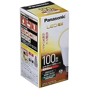 パナソニック LED電球 口金直径26mm 電球100W形相当 電球色相当(14.3W) 一般電球・広配光タイプ 密閉形器具対応 LDA14L-G/K100E/W