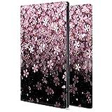 Huawei MatePad T10s ケース 手帳型 カバー カメラ穴 スタンド機能 カード収納 耐衝撃 高級PUレザー 全面保護 軽量 桜の花wx10 アニメ フラワー かわいい
