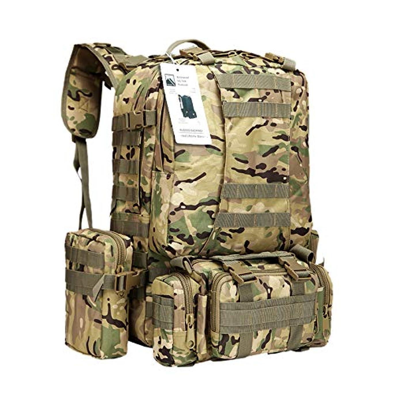 競争お勧め眠っているSummits Point 50L 4P アウトドア タクティカル バックパック - ミリタリー アーミー トレッキング キャンプ ハイキング ブラック リュックサック 男女兼用