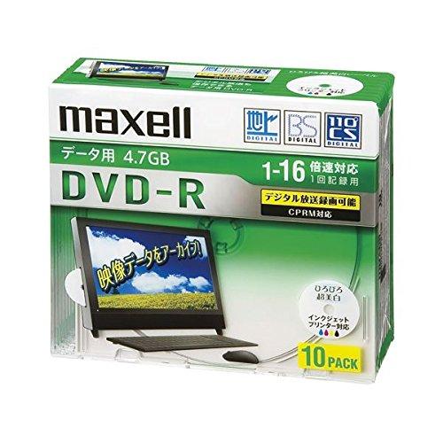 DRD47WPD.10S日立マクセルデータ用DVD-R 16X  DRD47WPD.10S