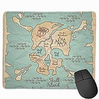 手描き海賊マップ マウスパッド 25×30 大判 ノンスリップ 防水 ゲーミング おしゃれ マウスの精密度を上がる