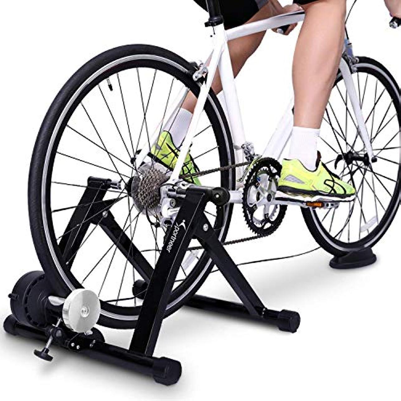 利益生きる印象的なスチールバイク自転車トレーナー練習と磁気スタンドノイズリダクションホイールby sportneer