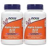 [海外直送品][2本セット]NOW Foodsアルファリポ酸