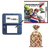 Newニンテンドー3DS LL メタリックブルー + マリオカート7 - 3DS  + 【Amazon.co.jp限定】 ギフトラッピングキット【小】 (BAG仕様:マリオキャラクターver.)