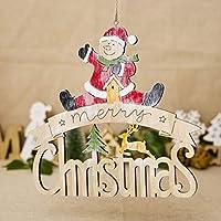 jiuloneclerst 塗装済み完成品エルク雪だるまクリスマスデコレーションハットレターハウスペンダントクリスマス用品