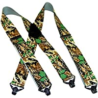 Hold-Ups Advantage Pattern Camouflage Hunting Suspenders w/ Patented Gripper Clasps