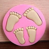 HKUN シリコンモールド チョコレートモールド キャンドル レジン 手作り石鹸に 抜き型 小さい足