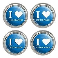 メタルクラフト縫製ノベルティボタン - 4点セット私は保険が大好き