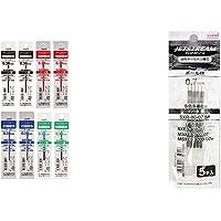 【セット買い】三菱鉛筆 ボールペン替芯 ジェットストリーム 多色多機能 0.38 4色×2本入 SXR8038 & ボー…