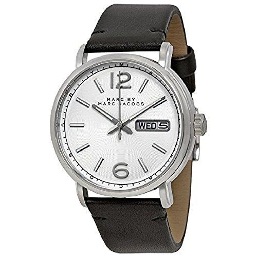 [マークジェイコブス]MARC BY MARC JACOBS メンズ ファーガス 42ミリ ブラック レザー 10気圧防水 MBM5076 腕時計 [並行輸入品]