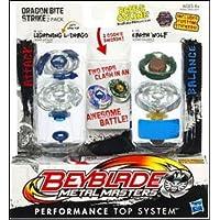 ベイブレード、メタルMasters、ドラゴンExclusive Bite Strike ( Lightning l-drago # bb-43 C and Earth Wolf # b-108 ) 2 - Pack