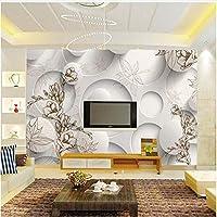 Xbwy カスタム写真の壁紙現代のファッション壁の壁画白いサイクルと花のリビングルーム大壁画のソファの背景-120X100Cm