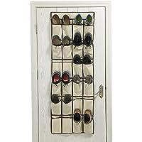 ACMETOP ドア掛け式靴収納 クローゼット ハンギング ラック Lサイズ オックスフォード地 ポケット 24個 ベージュ AT-ODO01-BE