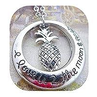 パイナップル・ネックレス、トロピカルフルーツの宝石 パイナップルチャーム、ネックレス、 単純な宝石、ビーチのネックレス