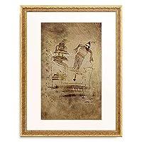 パウル・クレー Paul Klee 「Des Pierrots Verfolgungswahn. 1924.」 額装アート作品