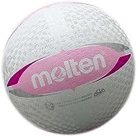 molten(モルテン) ソフトバレーボール デラックス (糸巻タイプ)  白×ピンク S3V1500-WP