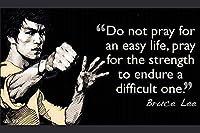 "Do Not Pray。。。。ブルース・リー(引用符26)ポスター{ 12"" x18"" }"