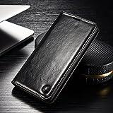 FLY SELINA Samsung Galaxy S7 Edge ケース 高級 本格レザー 手帳型 横開き カバー 革 マグネット式 カード収納 スタンド機能 ギャラクシー S7 エッジ 財布型 カバー 耐衝撃 ブラック