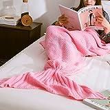 ZMG マーメイドブランケット アリエル気分 可愛い 人魚 ブランケット 着る毛布 あったか 柔らかい 優しい肌触り 冷え性 冷房 防寒 対策 ひざ掛け 昼寝 ソファ寝袋 人魚姫に変身(ピンク)