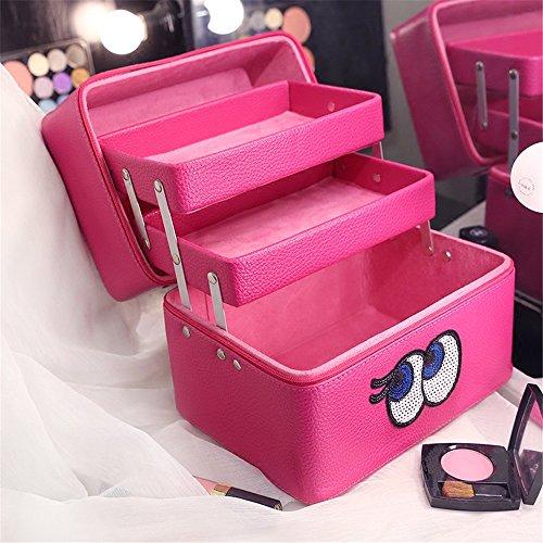 FYX コスメボックス メイクボックス 化粧品収納 収納ケース メイク用品収納 小物入れ 大容量  ...