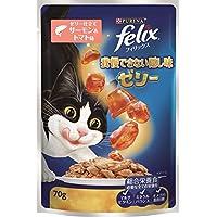 フィリックス 我慢できない隠し味ゼリー 成猫用 ゼリー仕立て サーモン&トマト味 70g×12袋 (まとめ買い) [キャットフード・パウチ]