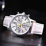 ZooooM カラフル 文字盤 腕時計 メンズ 男性 クロノグラフ レザー 革 クロコ 型押し ベルト カジュアル ビジネス フォーマル ( ホワイト ) ZM-WATCH2-659-WH