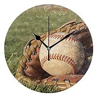 野球 可愛い 目覚まし時計 サイレント PUV時計 睡眠およびその他の多くの機会に適しています