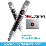 SingMasters Magic Sing French Karaoke Player,700+ French Songs,Dual wireless Microphones,YouTube Compatible,HDMI,Song recording,Karaoke Machine