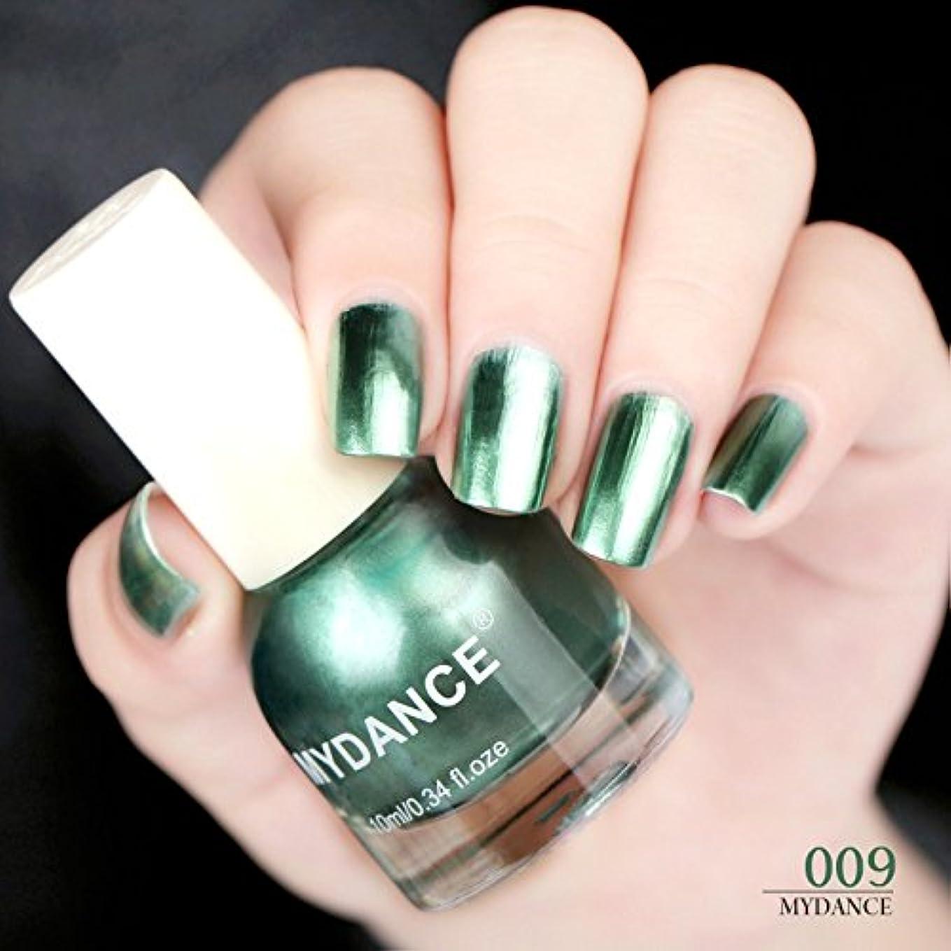 1ボトル グリーン 10ml 鏡ネイルポリッシュ メタルポリッシュ ミラー ネイルカラー ネイルアート ポリッシュ マニキュア