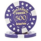 by-rybelly Poker Chips、25パックテキサスHoldem Professional Tournament Poker Chips,パープル
