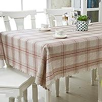 Nuanxin 北欧風茶色格子シンプルなテーブルクロス、PCV素材洗える長方形の正方形のテーブルクロス、レストランのキッチンデスクの結婚式など。 D12 (Size : 135*135cm)