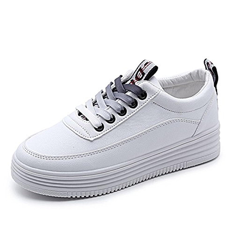 ガールズ スニーカー レディース 人気 板鞋 カジュアルシューズ おしゃれ 白い板鞋 高まる 软皮 ジュニア 通学 学生 高校生 ホワイト 厚底靴