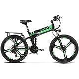 XF700電動アシスト自転車 CYRUSHER 折りたたみ マウンテンバイク 36V*10.4AH 荷台 公道走行と防犯登録可能 (緑)