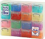 不二貿易 R.U.BOX 収納ケース プラスチック 0.14L 16マス マルチクリア 20727