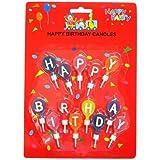 Happy Birthday/ハッピーバースデー(13本) デコレーションキャンドルお誕生日ろうそく通販