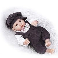 NPKDOLL リボーンベビードールハードシミュレーションシリコーンビニール10インチの26センチメートル防水浴室子供のおもちゃは、アクリル目でかわいい男の子を提示します Reborn Baby Doll A1JP