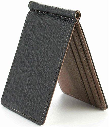 1ab51739edc7 Diomarcia(ディオマルキア) マネークリップ カードケース 薄 財布 札入れ 二つ折り レザー (ブラウン)
