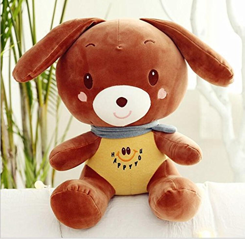 HuaQingPiJu-JP ウサギのおもちゃのぬいぐるみ50cmウサギの枕ぬいぐるみウサギのぬいぐるみのおもちゃの贈り物(茶色)