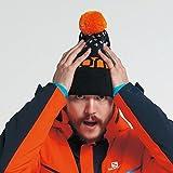 サロモン(SALOMON) スキー スノーボード ニット帽 FREE BEANIE Black/Turmeric/White OSFA(フリー)サイズ L39509500