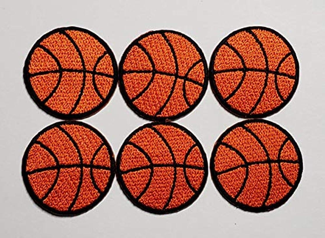 故障モジュール学校教育ワッペン アイロン 6枚入り バスケットボール