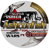 Ashconfish PEライン 4編 8編 釣り糸 500m (0.4号 0.6号 0.8号 1号 1.2号 1.5号 2号 3号 3.5号 4号 4.5号 5号 6号 7号 8号 9号 10号) 高強度 高感度 低伸度
